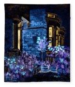 Chelsea Row At Night Fleece Blanket