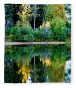 Chena River View Fleece Blanket