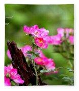 Cherokee Rose Card - Flower Fleece Blanket
