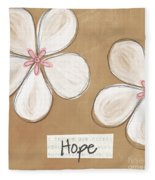 Cherry Blossom Hope Fleece Blanket