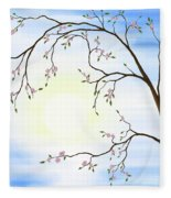 Cherry Blossom Fleece Blanket