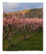 Cherry Blossom Pink Fleece Blanket