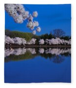Cherry Blossoms And The Tidal Basin Fleece Blanket