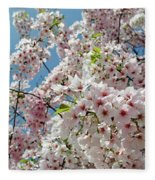 Cherry Blossoms Of The Sky Fleece Blanket
