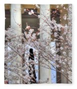 Cherry Blossoms Washington Dc 1 Fleece Blanket