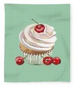 Cherry Cream Fleece Blanket