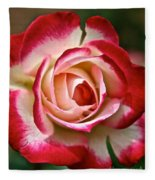 Cherry Vanilla Rose Fleece Blanket