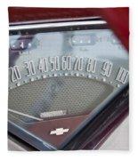 Chevrolet 3100 Truck Speedometer Fleece Blanket