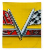 Chevy 427 Turbo-jet Fleece Blanket