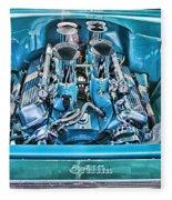 Chevy Engine Hdr Fleece Blanket