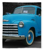 Chevy Pick-up With Bw Background Fleece Blanket