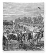 Chicago: Cattle Market Fleece Blanket