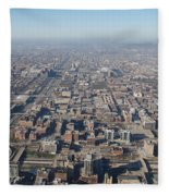 Chicago From The Top Of The Willis Tower Fleece Blanket