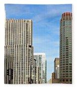 Chicago Panorama 1 Fleece Blanket