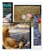 Chickens Fleece Blanket