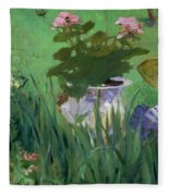 Child In The Flowers Fleece Blanket