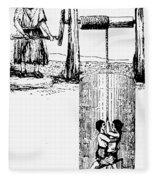 Child Labor, 1842 Fleece Blanket