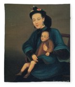Child With Gangrene Fleece Blanket