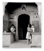 Childhood In Jaipur  Fleece Blanket