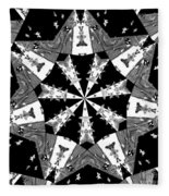 Children Animals Kaleidoscope Black And White Fleece Blanket