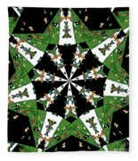 Children Animals Kaleidoscope Fleece Blanket