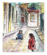 Children In Nicosia Fleece Blanket