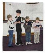 Children Sing Praise Fleece Blanket