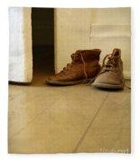 Child's Shoes By Open Door. Fleece Blanket