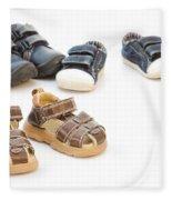 Childs Shoes Fleece Blanket