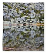 Chimney Pond Reflections Fleece Blanket