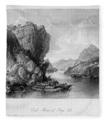 China: Coal Mining, 1843 Fleece Blanket