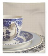 China Cup And Plates Fleece Blanket