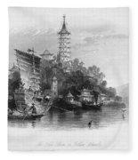 China: Golden Island, 1843 Fleece Blanket