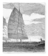 China: Junk, 1857 Fleece Blanket