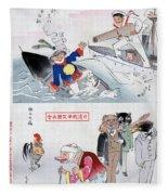 Chinese Cartoon, 1895 Fleece Blanket