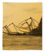 Chinese Fishing Nets Fleece Blanket
