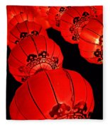 Chinese Lanterns 3 Fleece Blanket