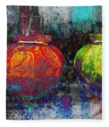 Chinese Lanterns Fleece Blanket