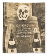 Chinon Wine  Fleece Blanket