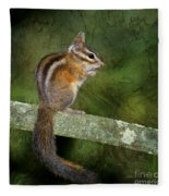 Chipmunk In The Forest Fleece Blanket