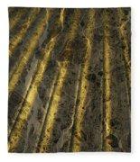 Chocolate Steel Fleece Blanket