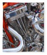 Chopper Engine Fleece Blanket