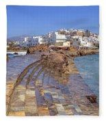 Chora Naxos Fleece Blanket