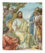Christ And His Disciples Fleece Blanket