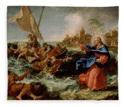 Christ At The Sea Of Galilee Fleece Blanket