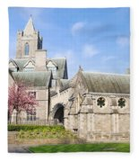 Christ Church Cathedral In Dublin Fleece Blanket