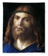 Christ Crowned With Thorns Fleece Blanket