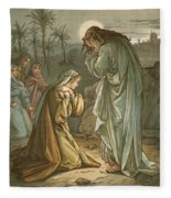 Christ In The Garden Of Gethsemane Fleece Blanket