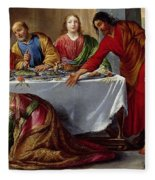 Christ In The House Of Simon The Pharisee Fleece Blanket
