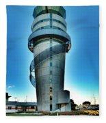 Christchurch Airport's Control Tower Fleece Blanket